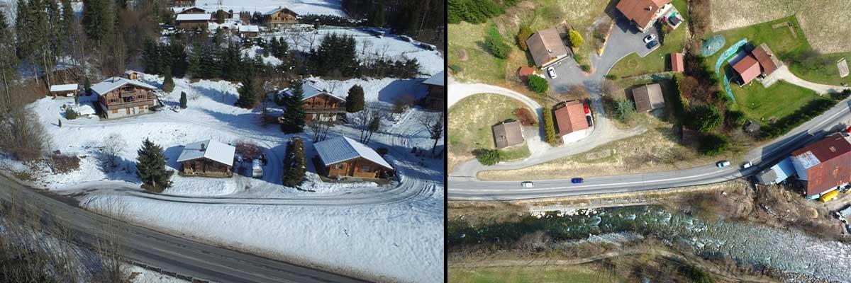 Photo de votre maison par drone en Haute Savoie