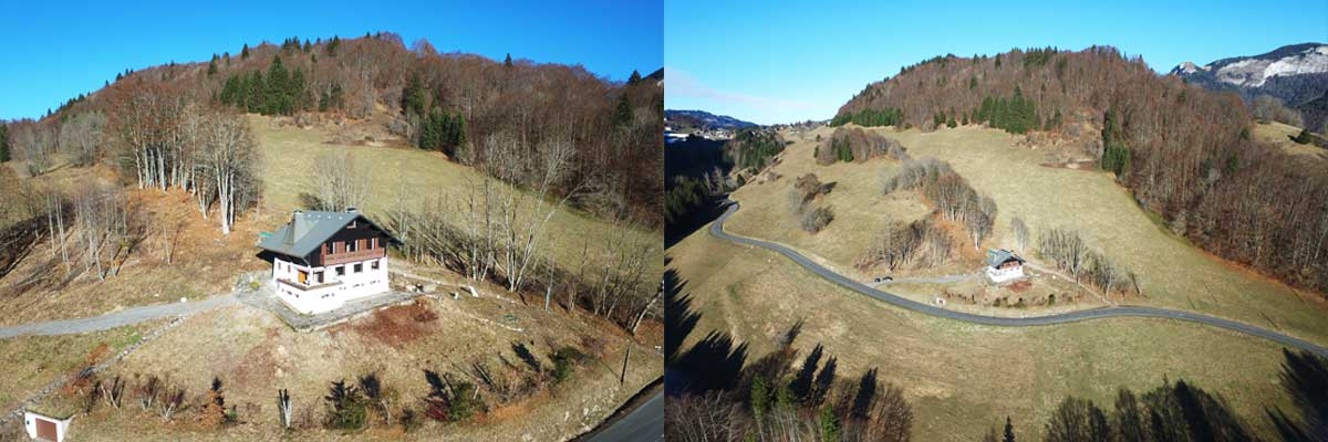 Photo de votre maison par drone en Rhône-Alpes