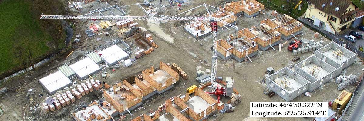 Suivi de chantier par drone en Haute Savoie